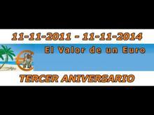 Tercer aniversario de wwwelvalordeuneuro es