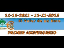 Primer aniversario de www elvalordeuneuro es